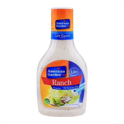 American Garden Lite Ranch Dressing, Gluten Free, 16oz/473ml