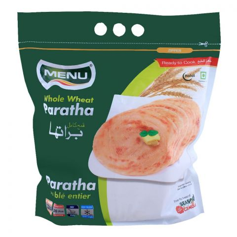 Menu Whole Wheat Paratha, 30 Pieces