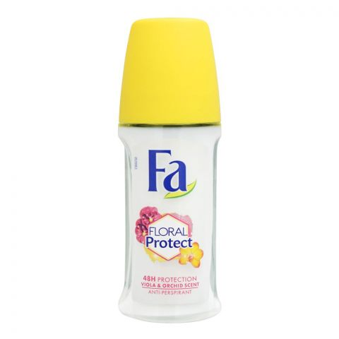 Fa 48H Protection Floral Protect Viola & Orchid Scent Roll-On Deodorant, For Women, 50ml