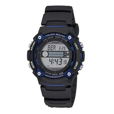 Casio Tough Solar Illuminator Tide Graph Moon Phase Digital Men's Watch, W-S210H-1AVDF