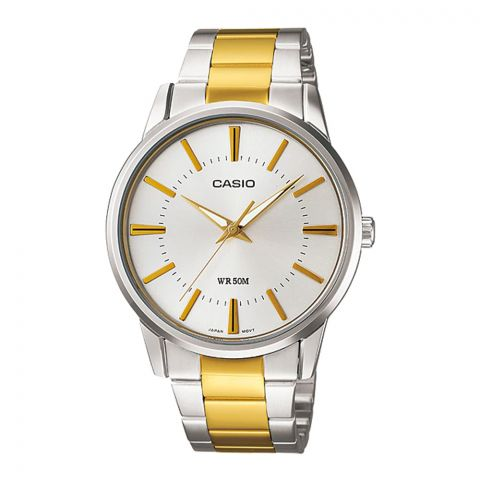 Casio Enticer Women's Standard Analog Stainless Steel Watch, LTP-1303SG-7AVDF
