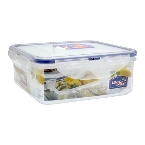 Lock & Lock Air Tight Square Short Food Container, 870ml, LLHPL823