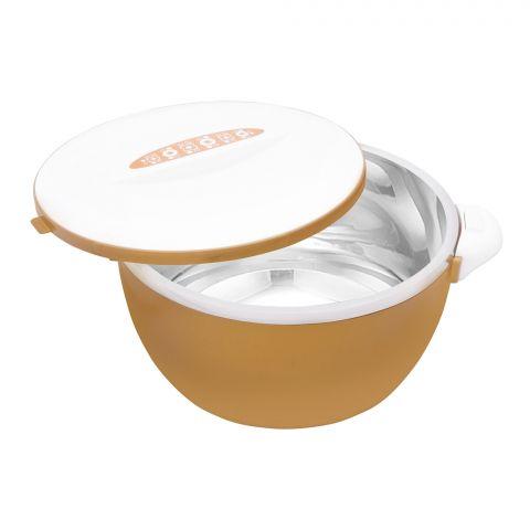 Happy Ware Hot Pot With Lock, 21x16x12cm, 1000ml, Golden, SU-619