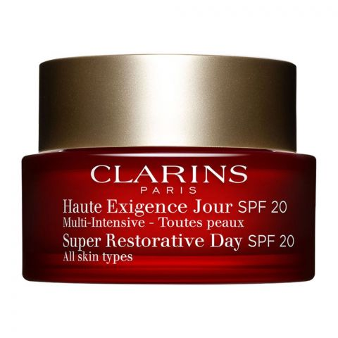 Clarins Paris Super Restorative Day Cream, SPF 20, All Skin Types, 50ml