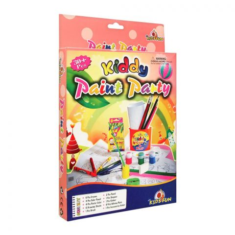 Kids Fun Kiddy Paint Party Set, 30+ Pieces