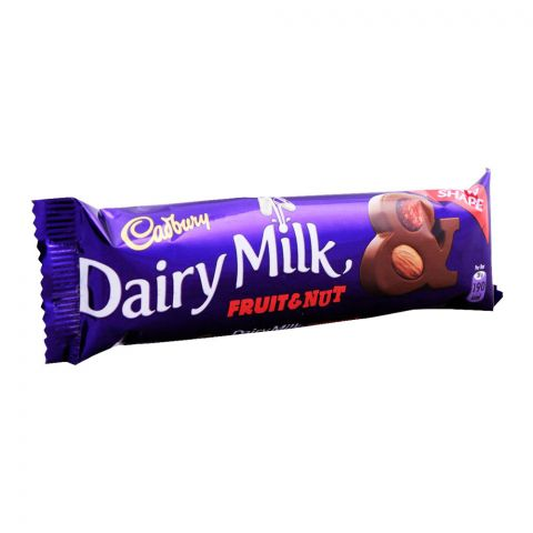 Cadbury Dairy Milk Fruit & Nut Chocolate, 38g, (Local)