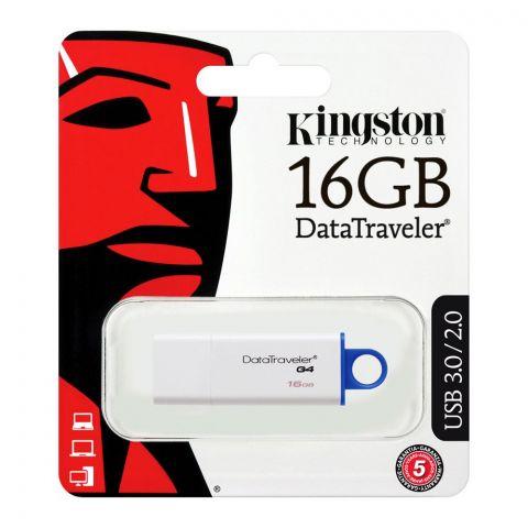 Kingston 16GB Data Traveler G4 USB Drive, USB 3.0/2.0