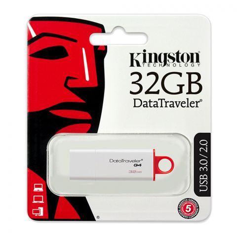 Kingston 32GB USB 3.0/2.0 Data Traveler G4 USB Drive, DTI4/32GB