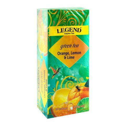 Legend Ceylon Green Tea, Orange, Lemon & Lime, 25 Tea Bags