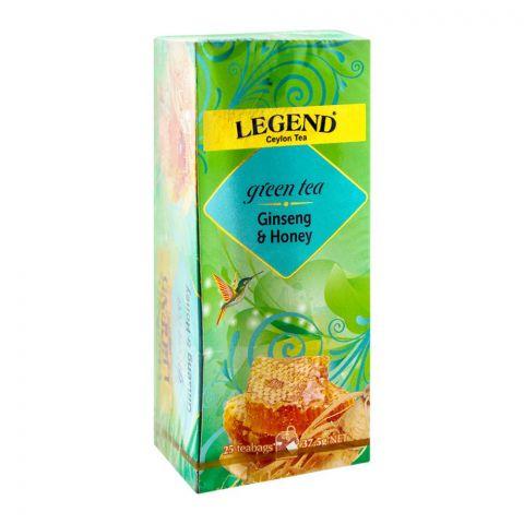 Legend Ceylon Green Tea, Ginseng & Honey, 25 Tea Bags
