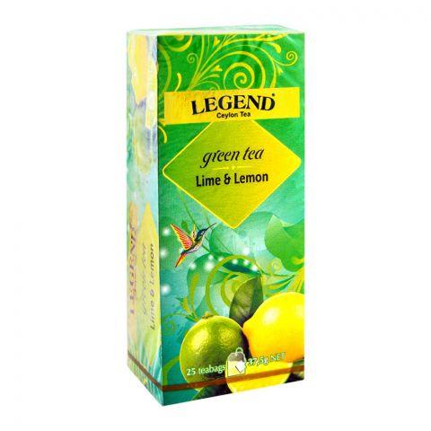Legend Ceylon Green Tea, Lemon Lime, 25 Tea Bags