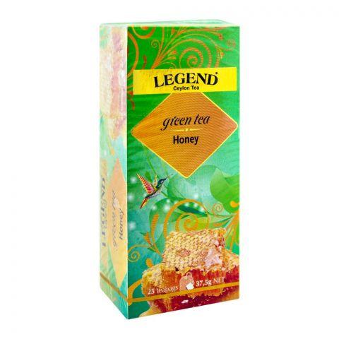 Legend Ceylon Green Tea, Honey, 25 Tea Bags