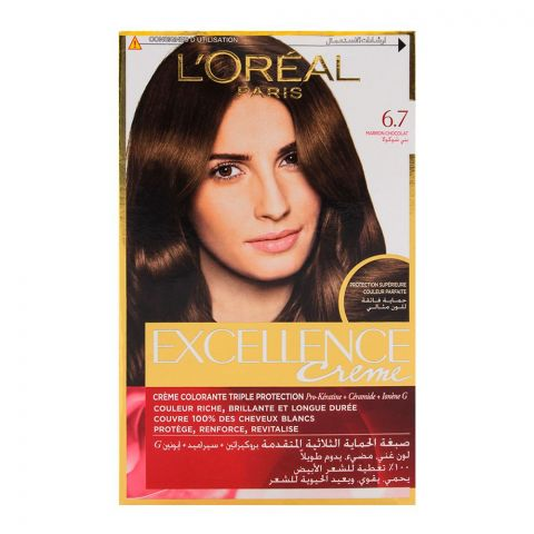 L'Oreal Excellence Hair Color Chocolate Brown 6.7