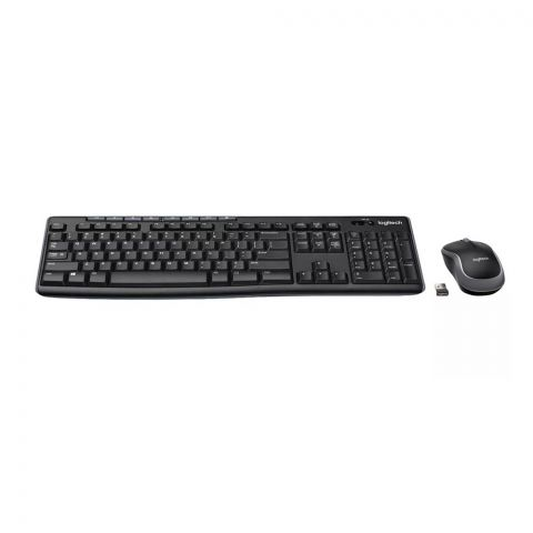 Logitech MK270R Wireless Combo Keyboard + Mouse, Black