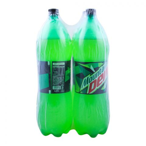 Mountain Dew 2.25 Liters, 4 Pieces