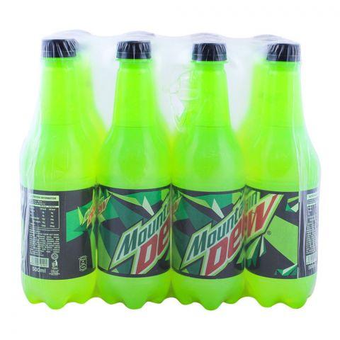 Mountain Dew Pet Bottle 500ml, 12 Pieces