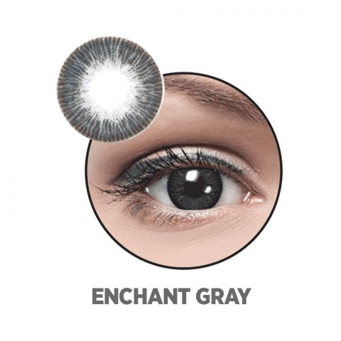 Optiano Soft Color Contact Lenses, Enchant Grey