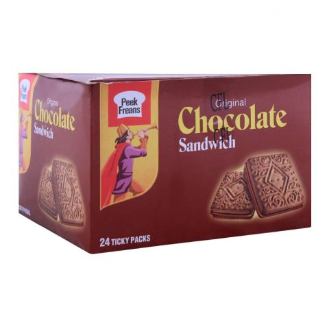 Peek Freans Chocolate Sandwich Biscuit, 24 Ticky Packs