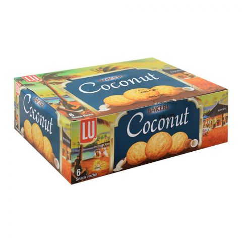 LU Bakeri Coconut Cookies, 6 Snack Packs