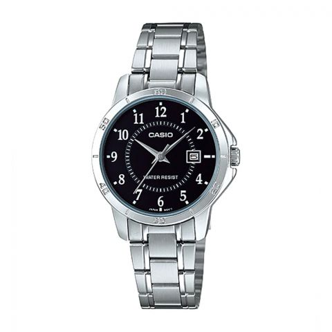 Casio Women's Analog Black Dial Stainless Steel Dress Watch, LTP-V004D-1BUDF