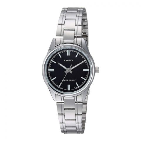 Casio Enticer Women's Black Dial Stainless Steel Watch, LTP-V005D-1AUDF