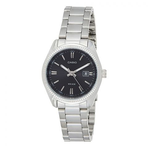 Casio Enticer Women's Black Dial Stainless Steel Watch, LTP-1302D-1A1VDF