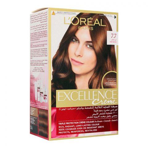 L'Oreal Paris Excellence Creme Hair Colour, Honey Brown 7.7