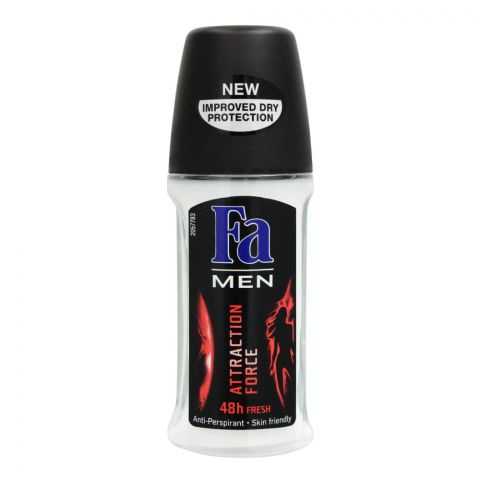 Fa Men 48H Fresh Attraction Force Roll-On Deodorant, For Men, 50ml