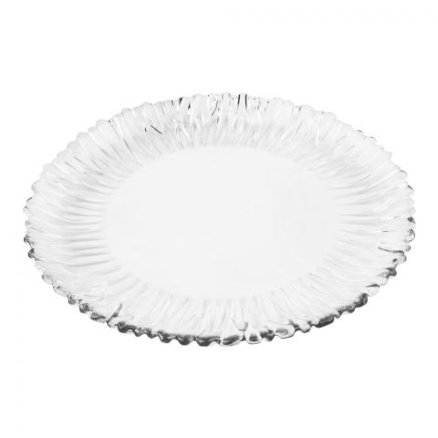 Pasabahce Aurora Tempered Round Plate, 12 Inches, 10499