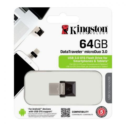 Kingston 64GB Data Traveler Microduo USB 3.0 OTG Flash Drive