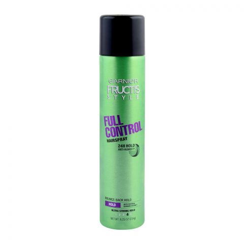Garnier Fructis Style Full Control Hair Spray, Ultra Strong Hold, 234g