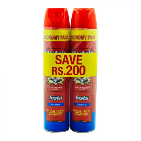 Mortein Bundle Insta Fly & Mosquito Spray 2x600ml Save Rs. 200