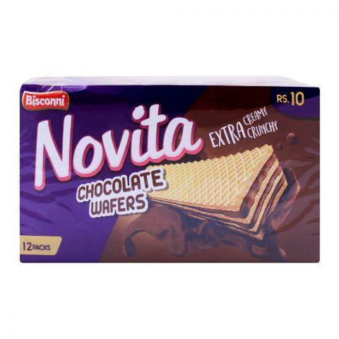 Bisconi Novita Chocolate Wafers, 12 Packs