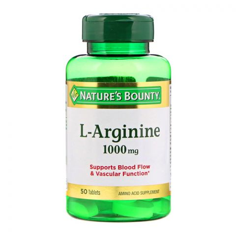 Nature's Bounty L-Arginine, 1000mg, 50 Tablets, Amino Acid Supplement