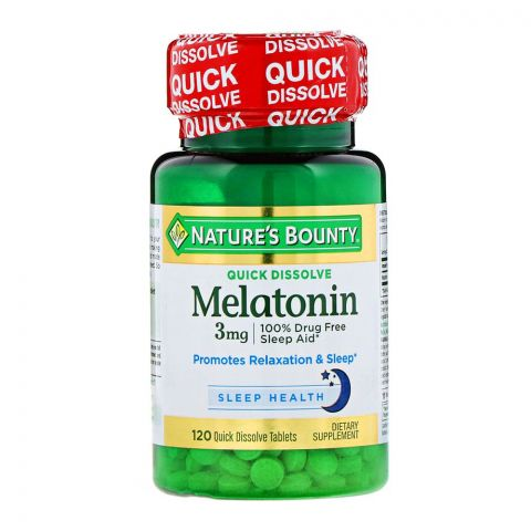 Nature's Bounty Melatonin 3mg, 120 Tablets, Dietary Supplement