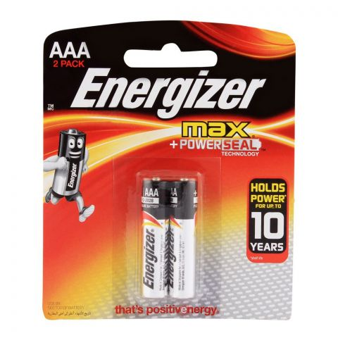 Energizer Max AAA Batteries 2-Pack BP-2