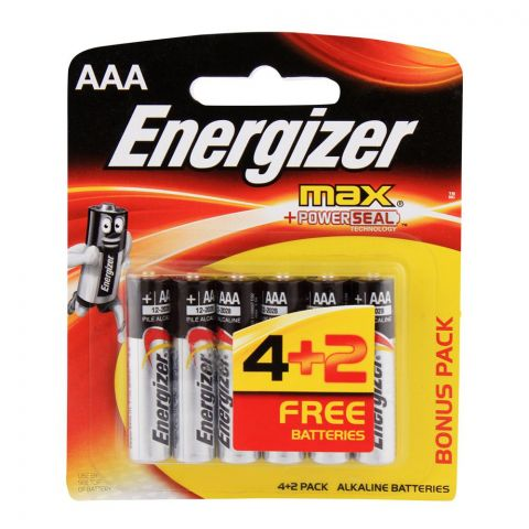 Energizer Max AAA Batteries 4-Pack BP-6