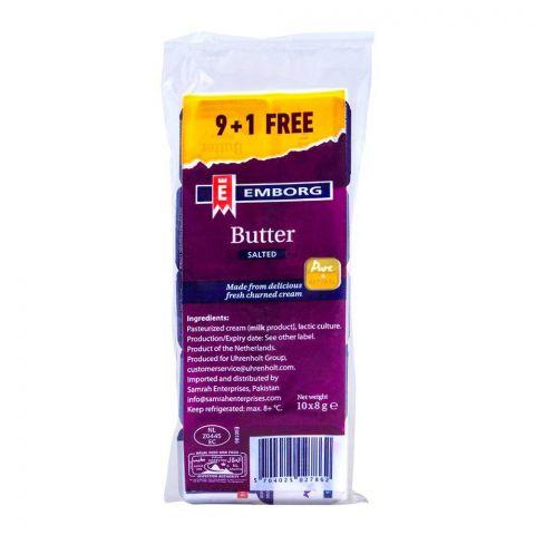 Emborg Butter Salted 10x8g