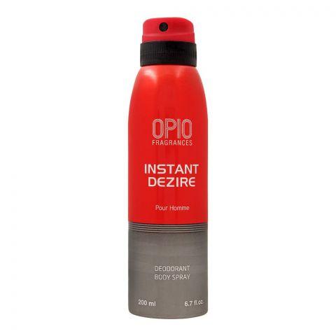 Opio Instant Dezire Deodorant Body Spray, For Men, 200ml