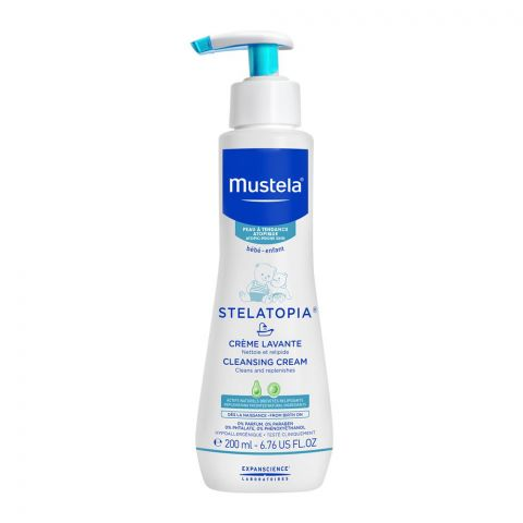 Mustela Stelatopia Baby Cleansing Cream, for Eczema-Prone Skin, 200ml