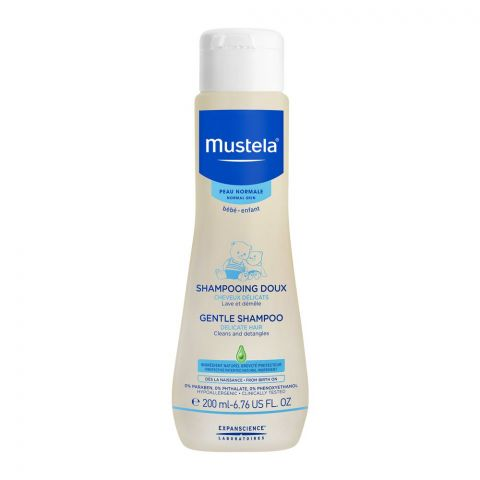 Mustela Baby Gentle Shampoo, Delicate Hair, 200ml