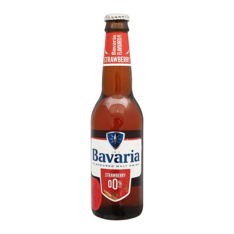 Bavaria Strawberry Flavour Malt Drink, Bottle, 330ml