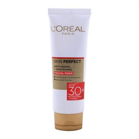 L'Oreal Paris Skin Perfect Anti-Aging + Whitening Facial Foam, Age 30+, 50g
