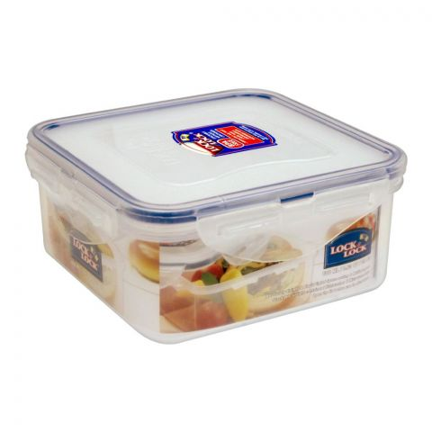 Lock & Lock Air Tight Square Short Food Container, 600ml, LLHPL854