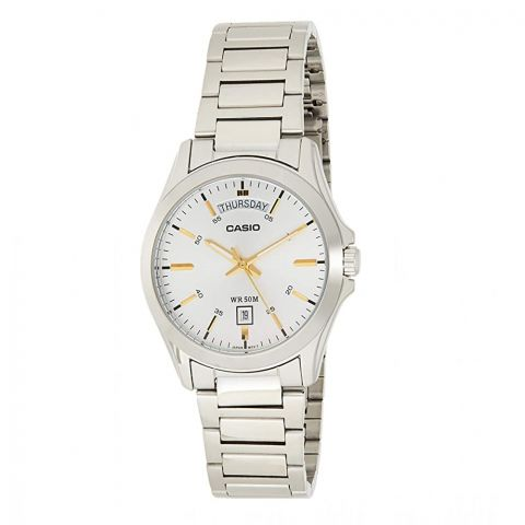 Casio Men's Classic Analog Silver Metal Watch, MTP-1370D-7A2VDF