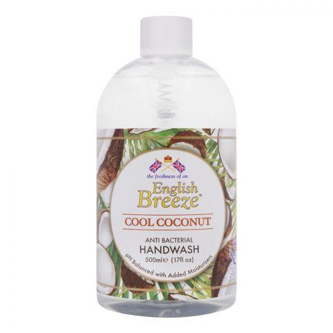 English Breeze Cool Coconut Anti-Bacterial Handwash, 500ml