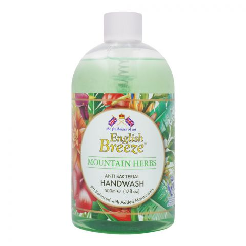 English Breeze Mountain Herbs Anti-Bacterial Handwash, 500ml