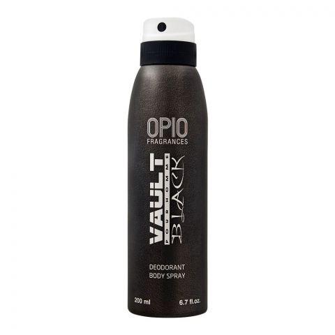 Opio Vault Black Deodorant Body Spray, For Men, 200ml