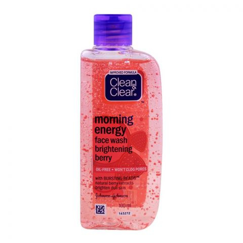 Clean & Clear Morning Energy Face Wash, Brightening Berry, Oil Free, 100ml