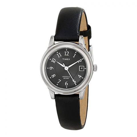 Timex Women's Porter Street Black Leather Band Watch, T29291
